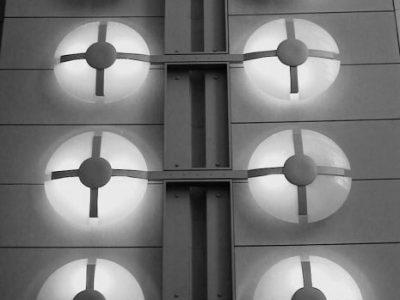 1317 Reagan bldg wall lights