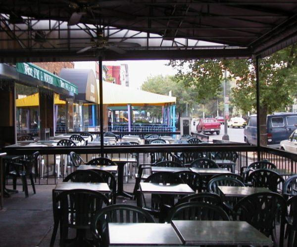 17th & Q looking south (early empty sidewalk cafe) 53