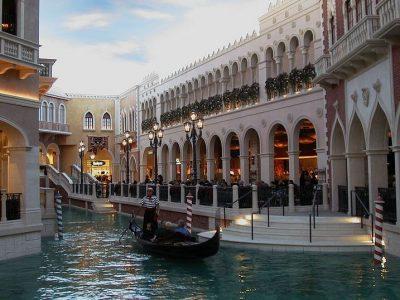 1872 Venetian shops and gondola