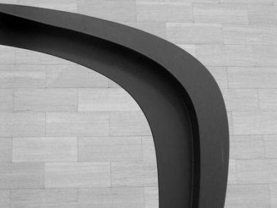 669 Nat'l Gallery exterior black sculpture against white unmod