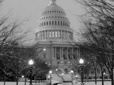 IMG_7669 Capitol building, nw snow walk, bw, (ok)