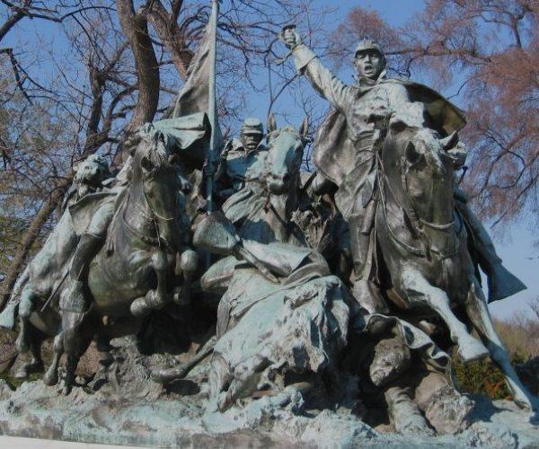 IMG_7777 horsemen charge melee (union forces, civil war) b&w