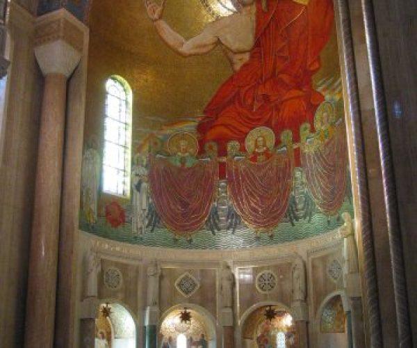 IMG_8226 church front, Christ mosaic